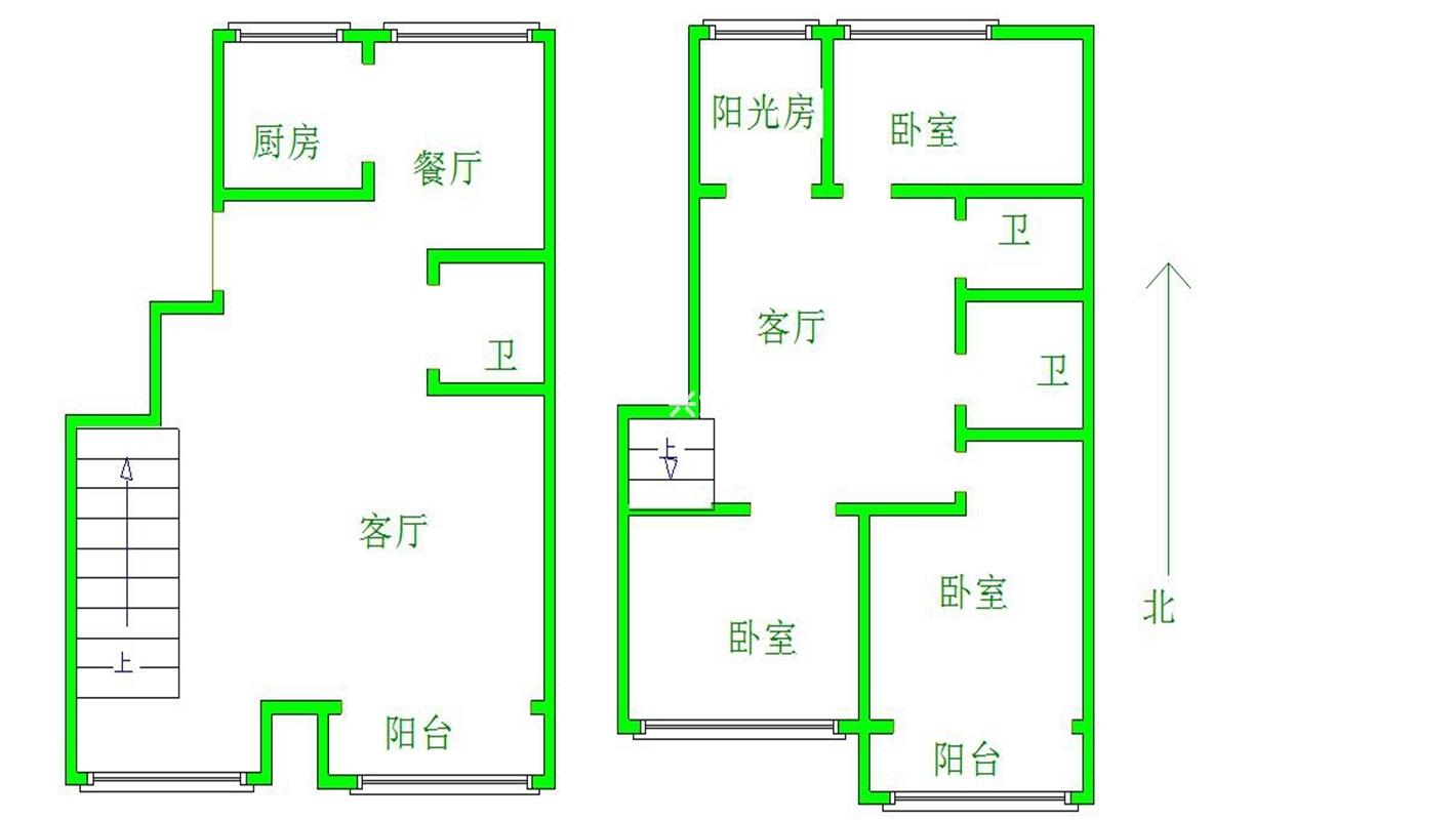 和苑小区3室。正规跃层_15
